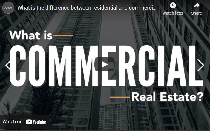 What is the difference between residential and commercial real estate?